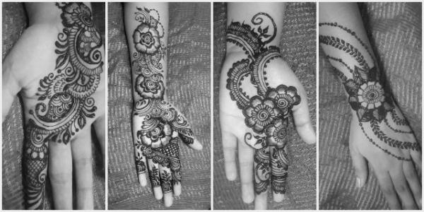 front hand henna