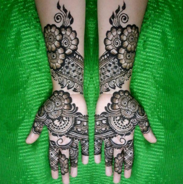 fulhand flower henna