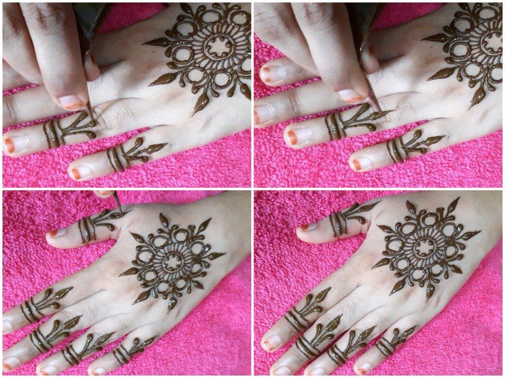 Step By Step Easy Party Henna Design - Ummi's mehndi